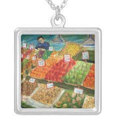 Produce Vendor Silver Necklace
