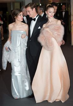 Charlotte Casiraghi in Chanel, Beatrice Borromeo e Pierre Casiraghi entrambi in Armani Privé, al Ballo della Rosa 2014