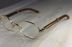 81e9258576d Cartier Glasses with Gold Panther Temples.