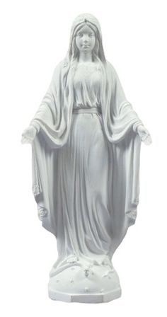 Madonna Our Lady of Grace white Statue - Veronese Collection