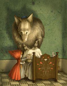 Pinzellades al món: Caputxeta Roja il·lustrada / Caperucita Roja ilustrada / Little Red Riding Hood illustrated / Le Petit Chaperon Rouge illustré (5). Fernando Falconi