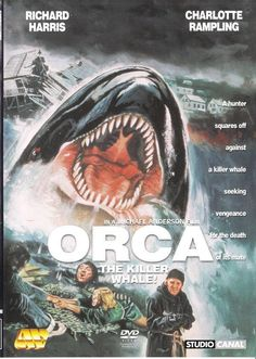 Orca The killer whale - Richard Harris Scary Movies, Great Movies, Jaws Movie, Foreign Movies, Horror Posters, Classic Horror Movies, Movie Poster Art, Fantasy Movies, Creature Feature