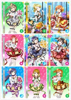 Lovelive! School idol festival Flower Bouquet editing Awakening card's --UR-- Sonoda Umi Yazawa Nico --SSR-- Ayase Eri Hoshizora Rin --SR-- Kousaka Honoka Minami Kotori Nishikino Maki Tojo Nozomi Koizumi Hanayo