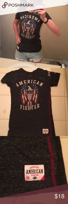 American fighter t-shirt Love this shirt, exclusively from buckle, super nice material and looks good with multiple outfits, I've only worn it a handful of times still in great condition no holes or stains, it has a distressed look to it already but there is nothing wrong with it American fighter Tops Tees - Short Sleeve