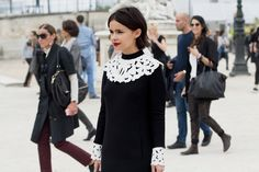 collars and cuffs - a modern way to wear monochrome lace
