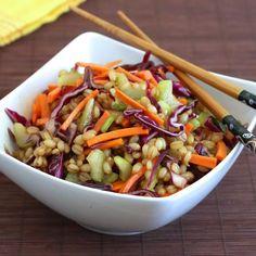 Asian Wheat Berry Salad HealthyAperture.com
