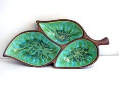 Vintage Treasure Craft Decorative Ceramic Tray by annarbormodern, $18.00