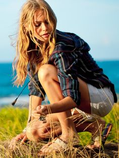 cute! from Roxy... longing for summer and beach days...and long hair!!!