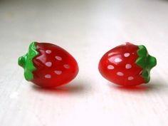 Little Strawberry Earrings