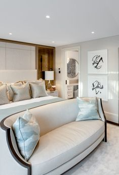 """""""The Taylor Howes design philosophy is an underlying structure of perfect proportions and immaculate symmetry enriched through the poetics… Bedroom Inspo, Bedroom Decor, Master Bedroom, Taylor Howes, Armani Hotel, Contemporary Home Decor, Furniture Upholstery, Interior Design Studio, Eclectic Decor"""