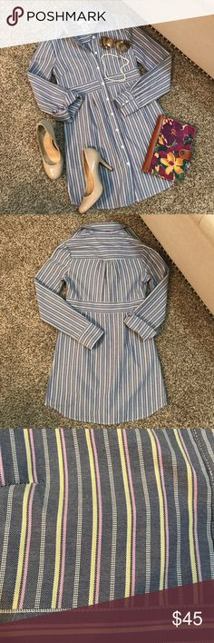 "BB Dakota Button Down Excellent condition! Laying flat shoulder to hem is 33"" and pit to pit is 17"". BB Dakota Tops Button Down Shirts"