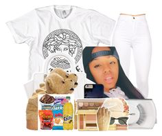 """""""•"""" by maryjanetower ❤ liked on Polyvore featuring Versace, adidas and MAC Cosmetics"""