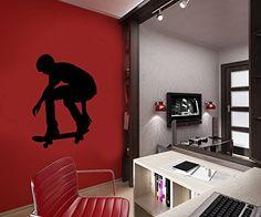 Wall Decal Vinyl Sticker Skateboard Snowboard Hockey Bedroom Dorm B353 CreativeWallDecals http://www.amazon.com/dp/B00XKYDX5M/ref=cm_sw_r_pi_dp_wBvzvb13R87AR