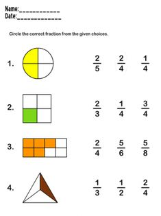 Fraction math worksheets learn fraction worksheets-great wkshts for fractio Math Fractions Worksheets, 2nd Grade Math Worksheets, Printable Math Worksheets, Worksheets For Kids, Free Printable, Maths 3e, Learning Games For Kids, Education Quotes For Teachers, History Education