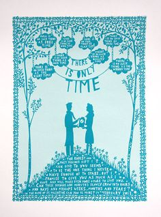 Rob Ryan Screenprint - There is Only Time (someday!)