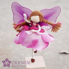 Rose pink Flower Princess Doll No face doll Pink by OrientalColour, $10.50