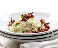 Salsiccia auf Risotto