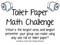 You don't have to print it to do the activity: Toilet Paper Math Challenge Project ~ Area and Perimeter