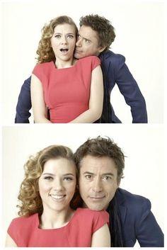 Avengers: Scarlett Johansson and Robert Downey Jr.
