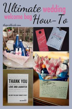Great ideas to create a memorable and fun welcome bag for your wedding guests! | Adventures Planned Honeymoons | www.adventuresplanned.com #destinationwedding #welcomebag