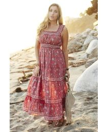 Tall Tiered Print Maxi Dress