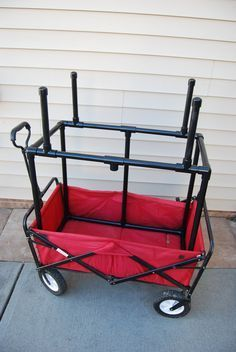 The Wagon Rack is an innovative idea that increases the usability of your portable wagon. Great for those families who carry a lot of family gear to your events. Whether it is the beach, camping or travel sports, the Wagon Rack allows you to efficiently carry coolers, playing gear, chairs, tents and everything else a family requires for a busy day or weekend.  The Wagon Rack is made of durable PVC tubing, painted Black, fits into your wagon and breaks down easily at the end of the day when…