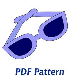 Sunglasses Applique PDF Pattern Quilt Block by NewEnglandQuilter, $1.50