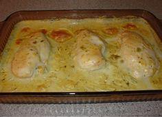 Szószos tepsis csirkemell a sütőből kedvenc