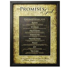 Carpentree The Promises of God Framed Art * Read more at the image link. (This is an affiliate link)