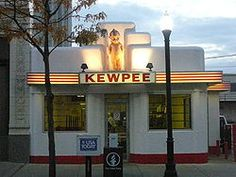 Kewpee Restaurant/Lima, Ohio U. National Register of Historic Places Great Places, Places To Go, Lima Ohio, The Buckeye State, Art Deco Home, Roadside Attractions, Kewpie, History Photos, Googie