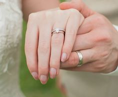 wedding bands on wedding hands