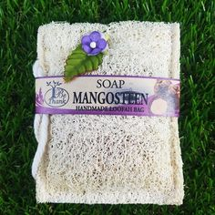 Mangosteen Soap Luffa Handmade Thai Herbal Bag Flourish Vitamin Soaps Beauty Fac #Bethank