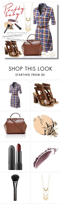 """Plaid Dress"" by christinacastro830 ❤ liked on Polyvore featuring LE3NO, The Limited, Maybelline, NARS Cosmetics, Gucci, Charlotte Russe and MANGO"