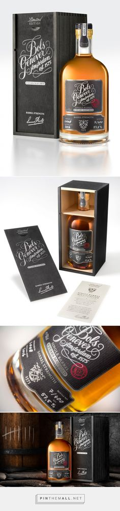 Bols Genever Barrel Strength - Packaging of the World - Creative Package Design Gallery - http://www.packagingoftheworld.com/2017/03/bols-genever-barrel-strength.html