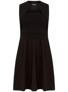 Black collar skater dress - View All  - Dresses