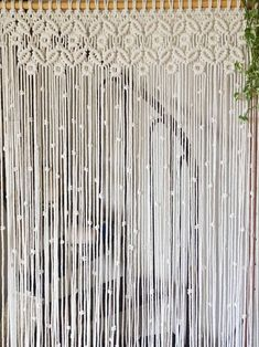 Macrame curtain boho decor customizable macrame for door Bohemian Curtains, Bohemian Bedroom Decor, Recycled Decor, Raw Color, Boho Dekor, Macrame Curtain, Diy Store, Macrame Patterns, Background For Photography