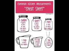 Baking cheat sheet