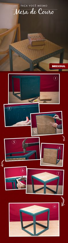 Renove uma mesa de canto e deixe sua casa cheia de estilo e moderna.