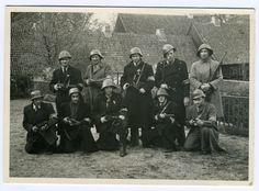 Medlemmer af sabotagegruppen 5.kolonne i Den Gamle By, d. 5. maj 1945. (Besættelsesmuseet)