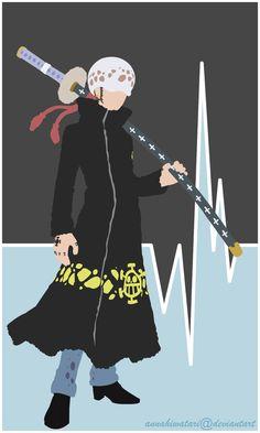 Trafalgar Law Minimalist Poster by AnnaHiwatari on DeviantArt