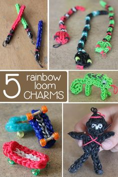 5 {FUN} Rainbow Loom Charms - Kids Activities Blog