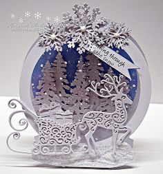 I have gone back to one of my favorite shaped cards.the snow globe.and som. - I have gone back to one of my favorite shaped cards…the snow globe….and some of my old tattere - Homemade Christmas Cards, Christmas Cards To Make, Xmas Cards, Christmas Greetings, All Things Christmas, Homemade Cards, Handmade Christmas, Holiday Cards, Christmas Crafts