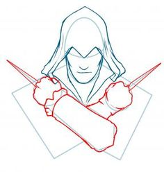 How to Draw Ezio, Assassins Creed, Ezio, Step by Step, Video Game ...