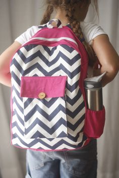 Toddler Backpack pattern from Made By Rae. Instructions included to size up to school backpack.