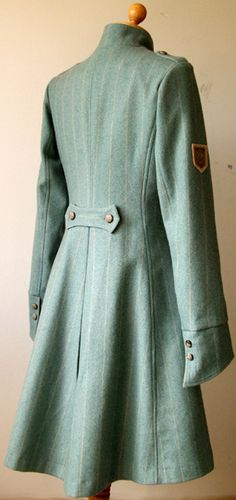 Wool tweed coat with silk lining and leather buttons Tweed Coat, Vintage Glamour, Jade Green, Cool Outfits, Buttons, Shirt Dress, Wool, Silk, Trending Outfits