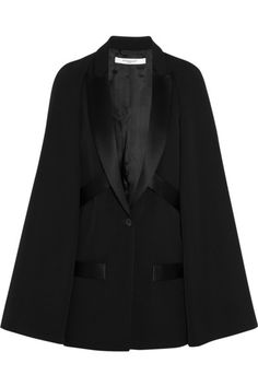 #Givenchy Wool cape jacket with satin details #FW14