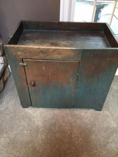 Early Antique Primitive Drysink Original Blue Paint AAFA #Americana Primitive  Furniture, Primitive Antiques,