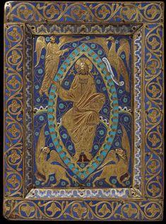 ;Gospel cover  Limoges, France, ca. 1200;  Champlevé enamel; copper alloy, gilt, engraved.   V&A Museum