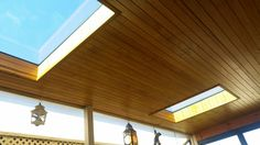 2 #VELUX FCM Fixed Skylights installed to the alfresco area bringing in lots of natural light! Pine lining returns installed and stained to match existing by Clearview.  VELUX Skylights Perth