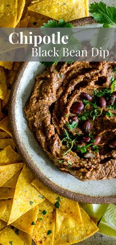 Have this snack ready in a flash for last minute guests, or lazy days around the house. Chipotle Black Bean Dip, for all your dippin' needs. vegan + gf